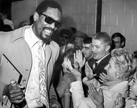 May 6, 1969: Bill Russell greeted fans after the Celtics won the NBA title.